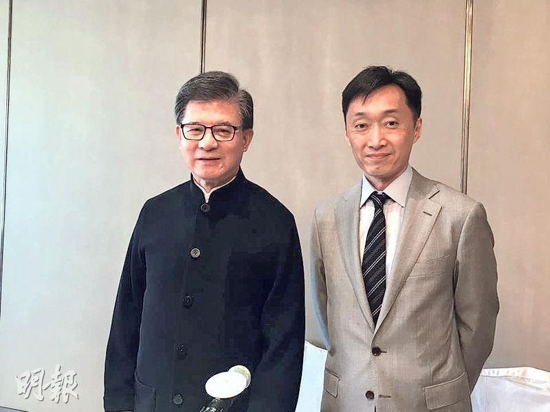 瑞安房地產主席羅康瑞(左)昨再次形容爭產案為「家族大悲劇」。(方楚茵攝)