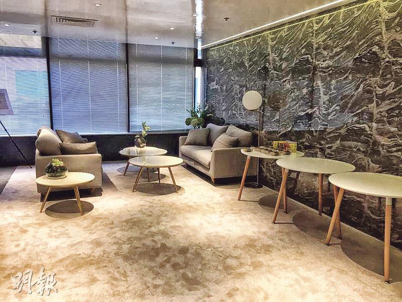 帝皇房地產拆售位於新蒲崗太子工業大廈的海德匯,先推售16間工作室,售價由123.6萬元起,圖為522方呎示範單位。