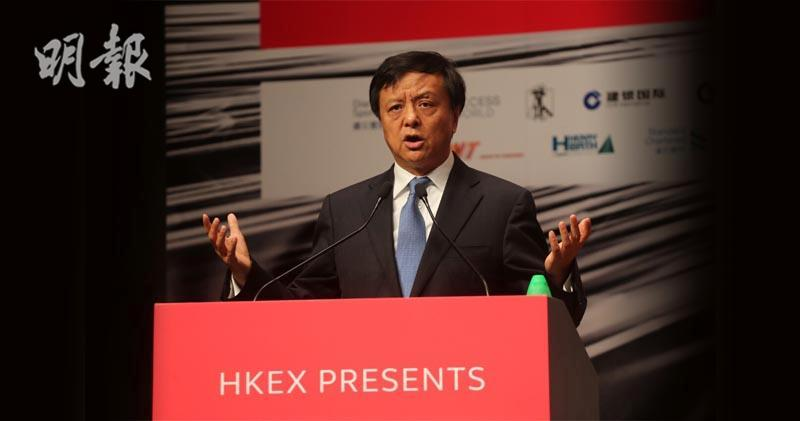 李小加表示,怎樣助中國取得全球大宗商品的定價權,是LME不斷探討的問題。(李紹昌攝)