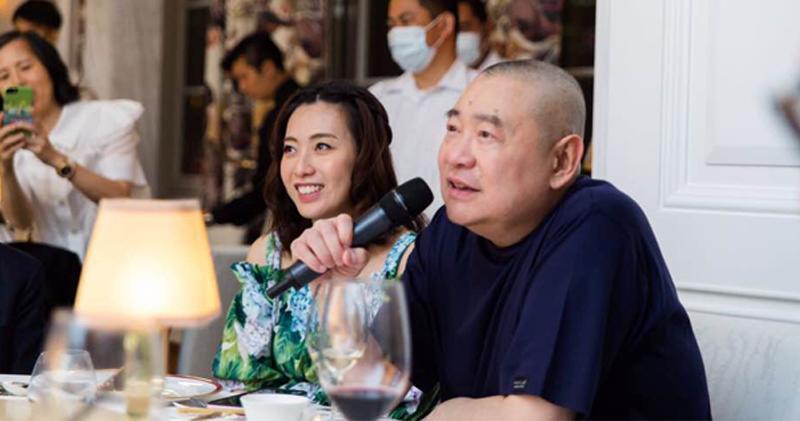 華置大股東劉鑾雄(右)及陳凱韻。(資料圖片)