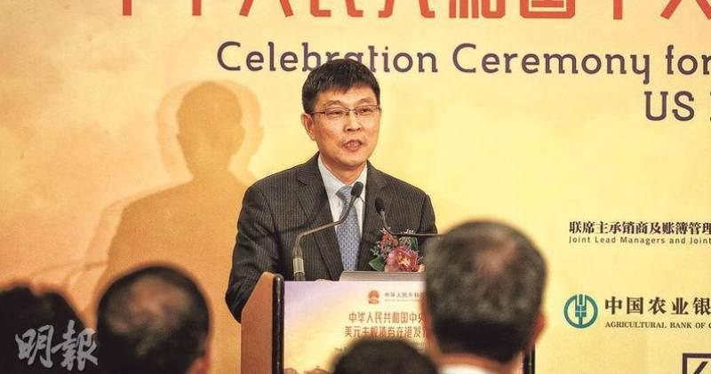 任德奇據報將出任交通銀行行長。圖為他去年10月以中行副行長身份在本港出席一慶祝酒會。