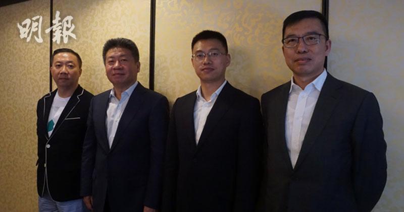 左起:中國核能科技執行董事鍾志成、副主席劉根鈺、行政總裁張瑞、首席金融官王曉陽。