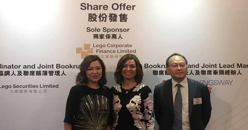 (左至右)加達控股行政總裁朱淑芳、主席朱碧芳、財務總監趙建輝。(張心怡攝)