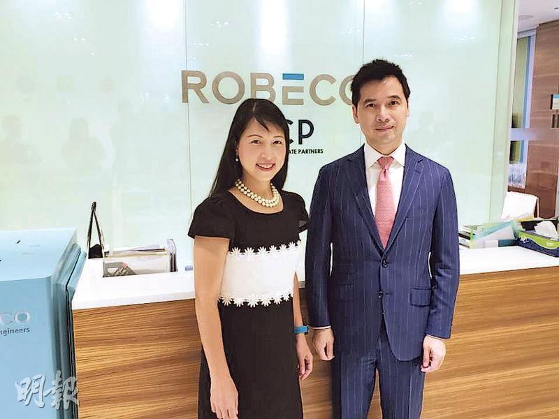荷寶投資繆子美(左)認為,中國經濟轉向內需服務業主導,中長期看好消費、科技、醫藥、新能源汽車和高端製造業。旁為荷寶中國研究總監魯捷。(王俊騏攝)