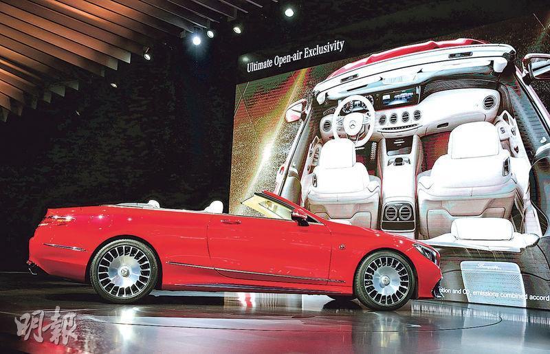 美國駐德國大使Richard Grenell與歐洲汽車巨頭CEO會談,稱如果歐洲撤銷對美國汽車的關稅,美方也會放棄對歐盟汽車的關稅。圖為德國平治車廠在加州展出的S 650新車。(路透社)