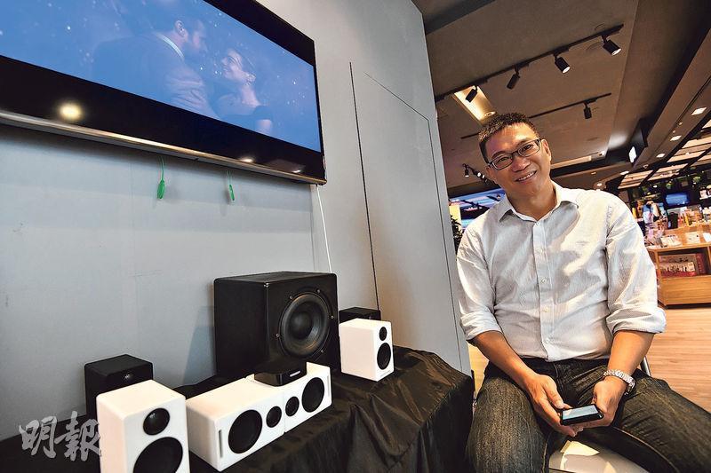 TMT Telcom創辦人招嘉銳透露,該公司的DECT揚聲器組合近期接獲多個外國小型批發商訂單。(馮凱鍵攝)