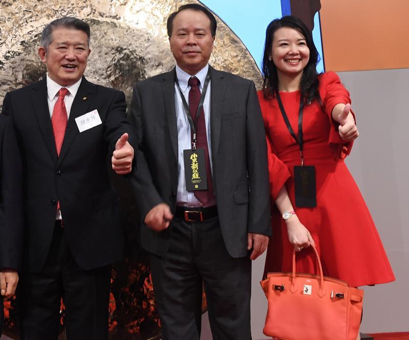 中共前領導人毛澤東的外孫女婿陳東升(左)(劉焌陶攝)