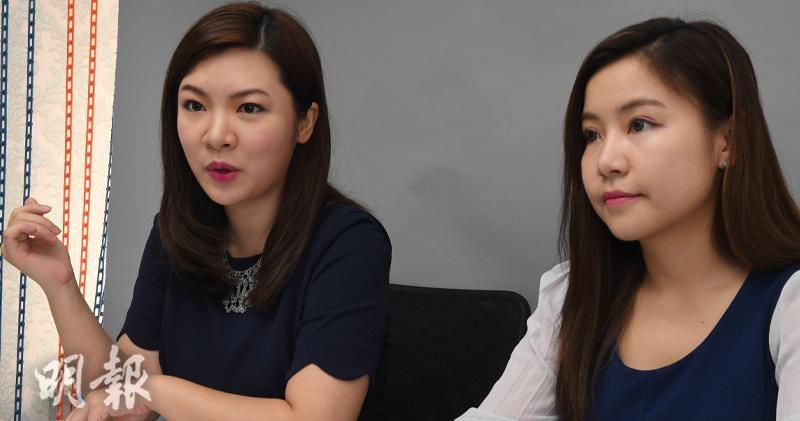 圖左起:香港婚活有限公司創辦人張惠萍、黃嘉如(劉焌陶攝)