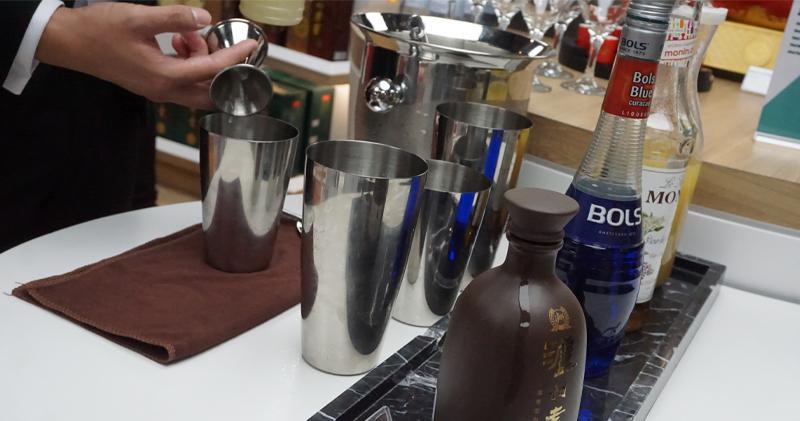中國白酒加入cocktail(張心怡攝)