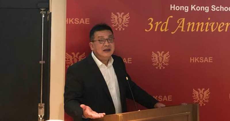 湯文亮在香港奧國經濟學院與《明報》合辦「講波‧講股‧講樓暨學院成立三周年豪情晚宴」上表示,小米(1810)作為首隻同不同權的股票,股價會因此利好。(黃琨攝)