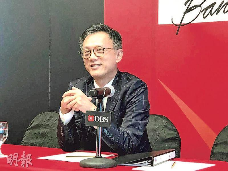 星展集團財資及市場部總監伍維洪表示,集團正物色內地合作伙伴,希望一至兩年內能在內地成立合資證券公司。(廖毅然攝)