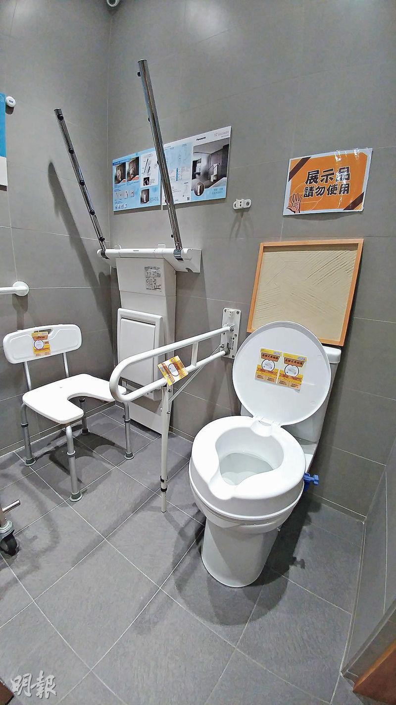 長者浴室設計以「無障礙」為主,例如改裝洗手間地台、浴缸改為企缸等。