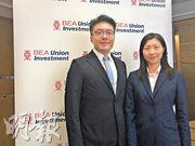 東亞聯豐投資定息投資部主管曾倩雯(右)認為在最近一輪市場調整後,亞洲債券已具吸引力,尤其是高收益債券。左為投資業務發展部董事總經理盧穗欣。