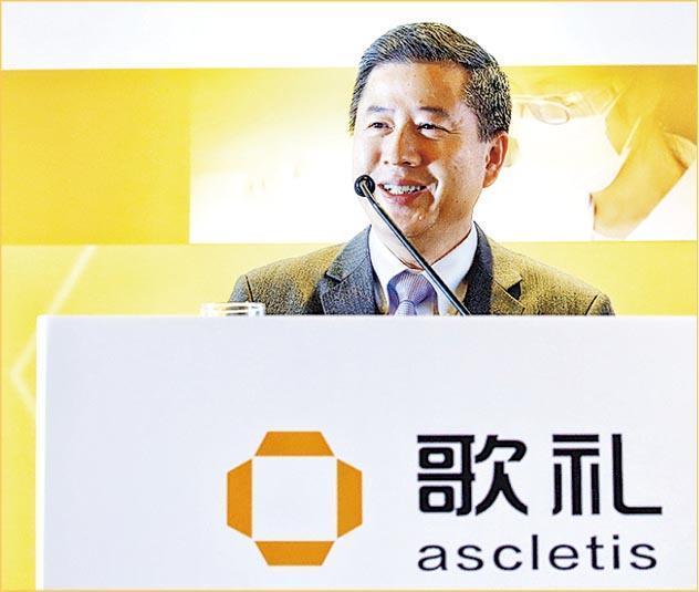 有分析指,像歌禮製藥主席吳勁梓(圖)這種願意捨棄海外高薪厚職回國發展的精英,是內地醫藥行業的希望。(路透社)