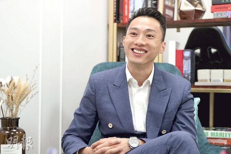 THE BLOCK GROUP陳振邦表示,年輕人可考慮先發展事業,待事業有成後,再實踐置業夢。(曾憲宗攝)