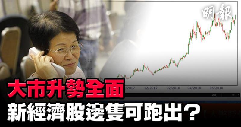 金蝶(0268)今早升5.3%不遜於舊經濟股。