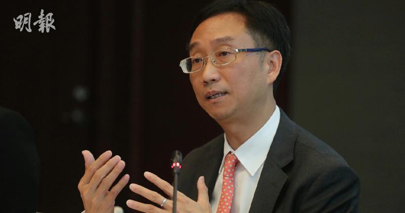 劉應彬強調,1000億元年金並非銷售目標,只是風險上限。(李紹昌攝)