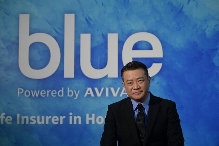 香港首個網上壽險品牌Blue今日正式成立。圖為Blue行政總裁孔德秋。(鄧宗弘攝)