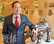 耀才證券主席葉茂林表示,美國以加息、減稅及增加關稅三招對付中國,「目標是攞中國命」,料內地以至本港經濟均會轉差,不利本港樓市。(劉焌陶攝)