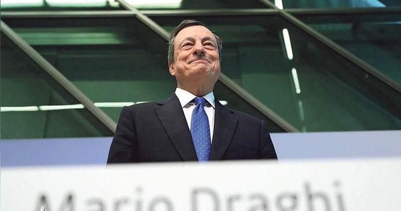 歐央行下調今、明兩年經濟增長預測。圖為歐洲央行行長德拉吉。