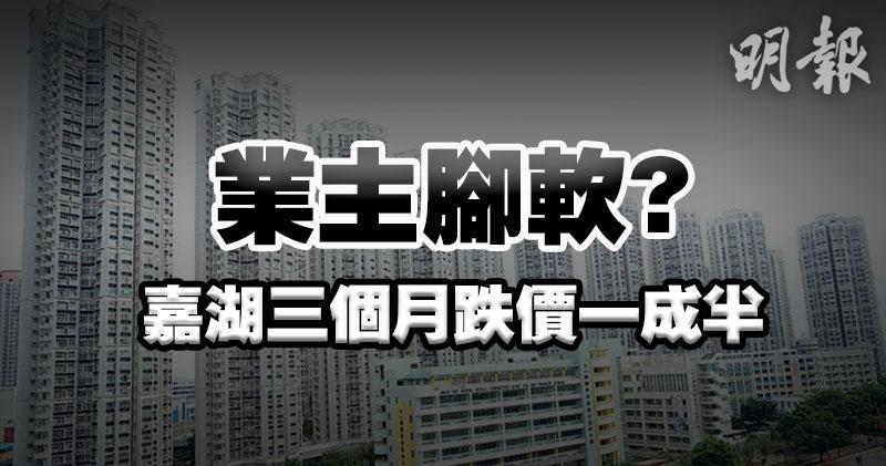 娥六招後新界西樓價領跌 嘉湖12周跌15%