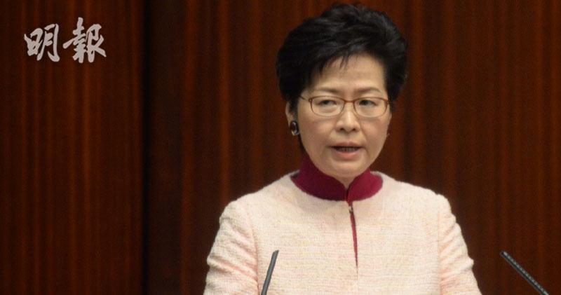 林鄭月娥:國家是最強後盾 籲抓緊「一帶一路」及大灣區機遇 (曾憲宗攝)