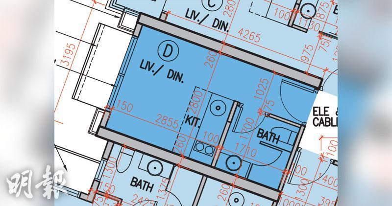 單位實用面積162方呎平面圖 資料來源:弦海樓書