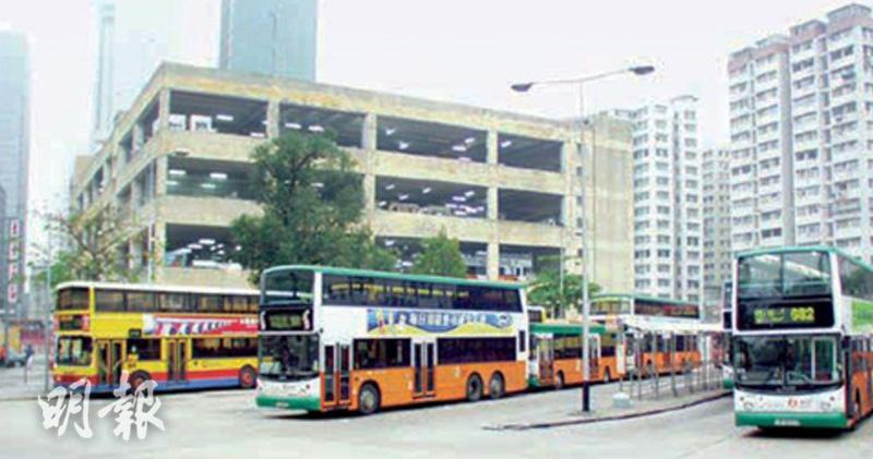 柴灣前中巴車廠批建兩幢商住大廈涉44萬呎。(資料圖片)