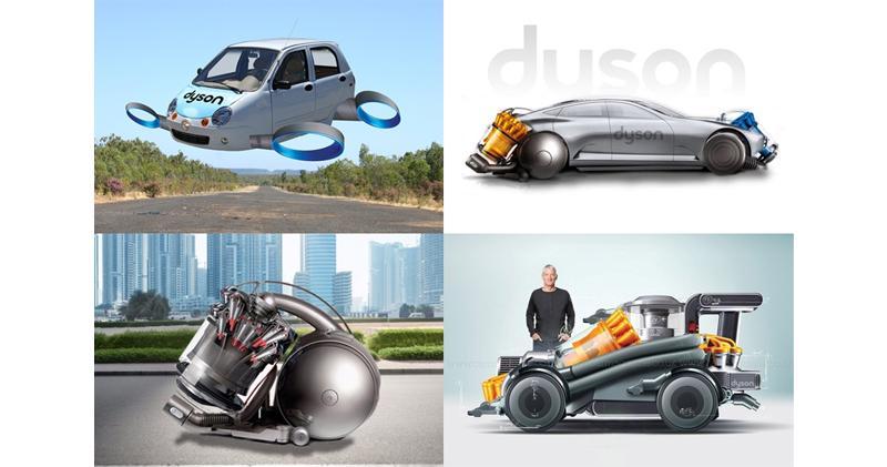 網上流傳網友發揮想像力,自行描繪DYSON概念車。(網上圖片)