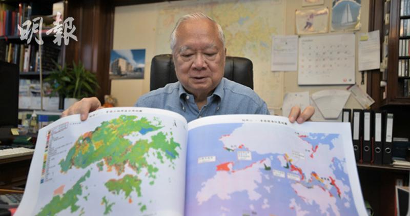 胡應湘:應付香港人口 東大嶼實需填海2600公頃。(楊栢賢攝)