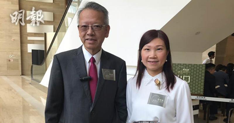 圖左起:華懋銷售部總監吳崇武、華懋銷售部高級銷售及市場經理陳慕蘭