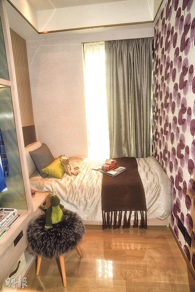 設計師將其中一間睡房改為兒童睡房。(攝影 劉焌陶)