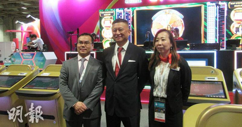 左起,陳健文、主席陳捷、首席營運官趙軼