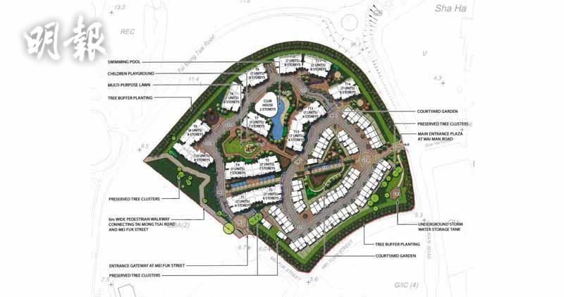 新世界就西貢沙下住宅項目再闖關。(項目構想圖)