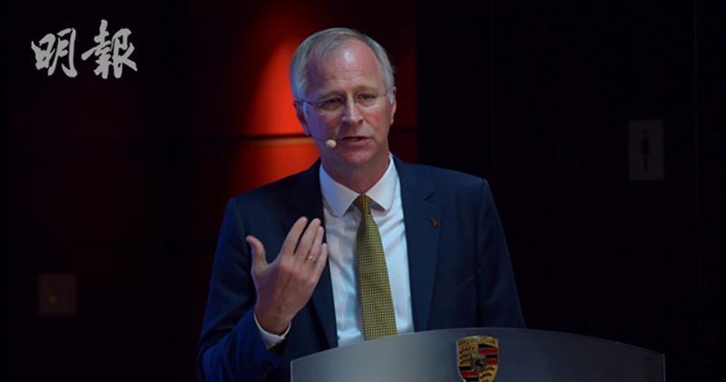 保時捷中國總裁及首席執行官Ing Jens Puttfarcken。(楊柏賢攝)