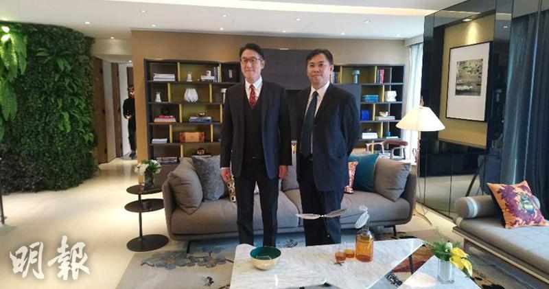 圖左為大銀地產主席馬清鏗,右為總經理(項目)朱偉雄 (鄭錦玲攝)