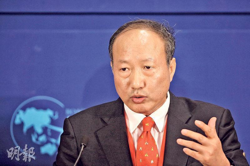 海航系早年在港收購多家上市公司,遇財務困難以外首度賣出上市公司控制權,圖為海航董事長陳峰。