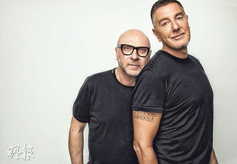 D&G兩名創辦人Dolce(左)與Gabbana是認識30多年的老友。Dolce是西西里島一名裁縫的兒子,Gabbana是平面設計師。