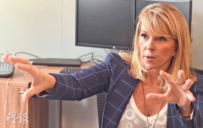 嘉信理財Liz Ann Sonders目前在美股11個主要板塊中,僅建議超配防守力較強的醫療股。(劉焌陶攝)