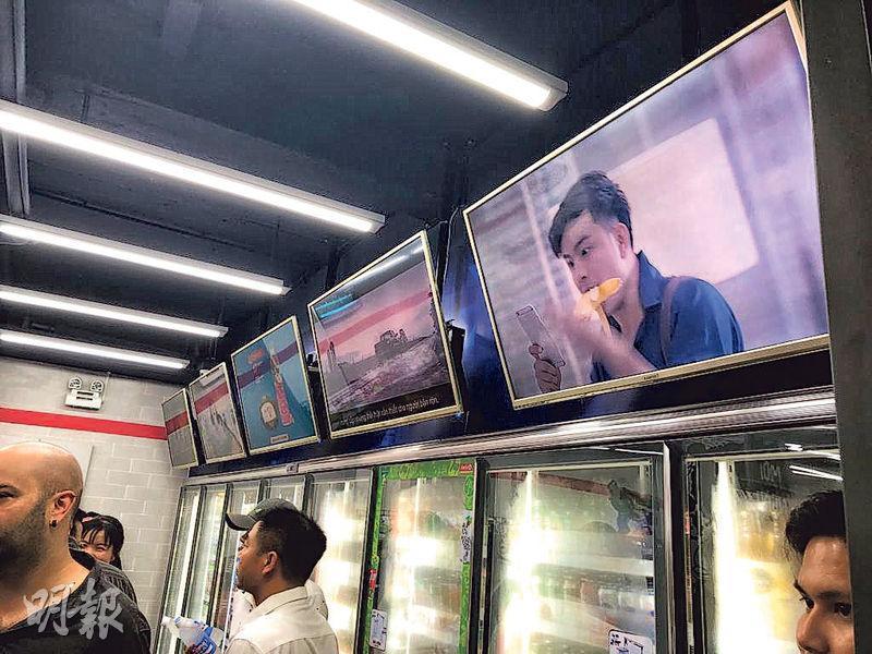 越南不少Circle K分店面積夠大,可安裝大量屏幕,除可用來推廣產品,更可用來作其他合作伙伴或客戶的宣傳渠道。
