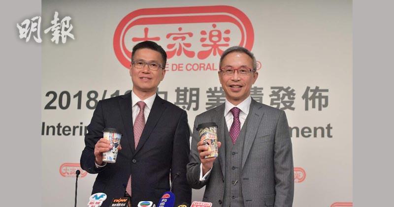 左至右 首席財務官林洪進 首席執行官羅德承(鄧宗弘攝)