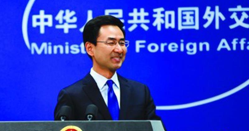 中國外交部發言人耿爽(資料圖片)