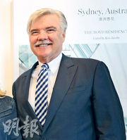 佳士得國際房地產董事總經理Ken Jacobs表示,悉尼樓市今年表現較為失色,但其客戶開始留意高質素豪宅及考慮入市。(李紹昌攝)