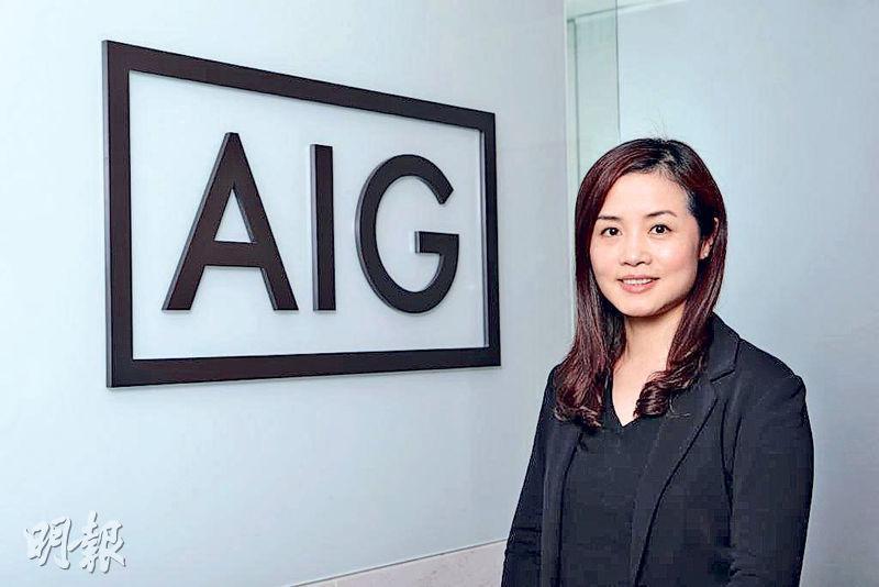 美亞保險大中華區金融保險部主管施麗娟指出,該公司網絡保險產品近三年都有40%的保費增長,反映企業正逐漸意識加強保障。(廖毅然攝)