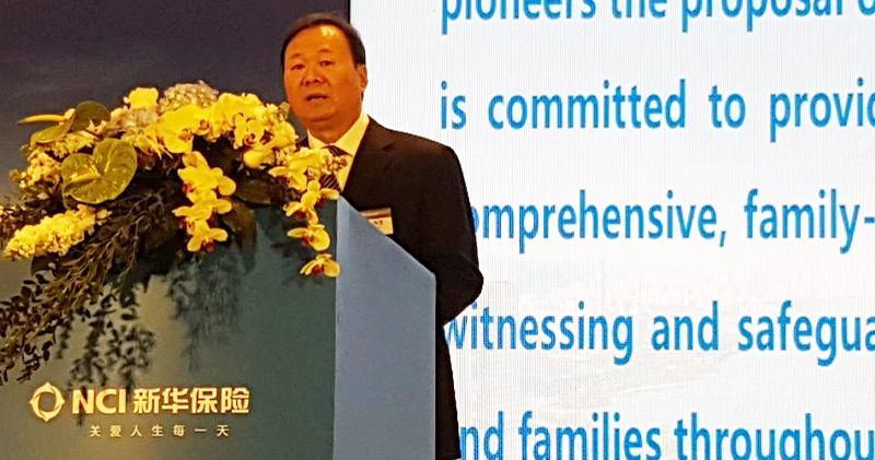 新華保險董事長兼首席執行官萬峰(歐陽偉昉攝)