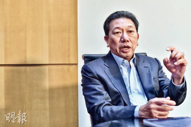 筆克主席謝松發(圖)表示,今年內地汽車銷售差,但車企不可能不做推廣。(馮凱鍵攝)