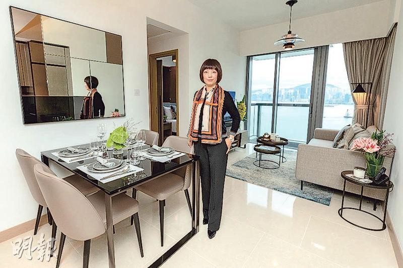 新地官曉霓表示,海璇匯倘全數租出,預計全年租金收益7000萬元,兩個現樓示範單位開始接受預約參觀。