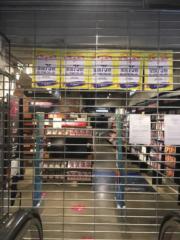 HMV銅鑼灣旗鑑店「落閘」 傳召開員工大會。(毛婷婷攝)