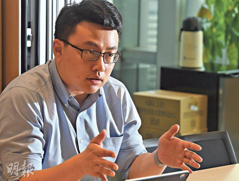 氪空間副總裁錢嘯表示,希望透過資源互通,將內地公司帶到香港發展。(劉焌陶攝)