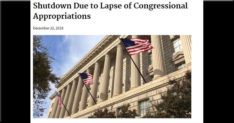 外電指美國商務部將暫停發布多項經濟數據